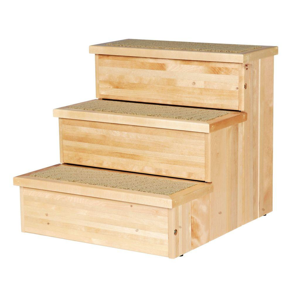 Trixie Natural Birch Wooden Pet Stairs 3943 The Home Depot