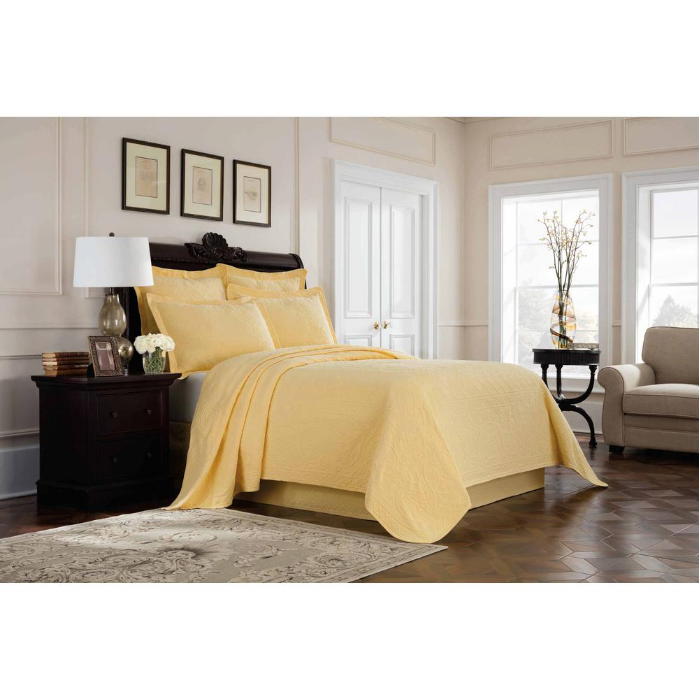Single Coverlet Williamsburg Richmond Yellow Queen Coverlet