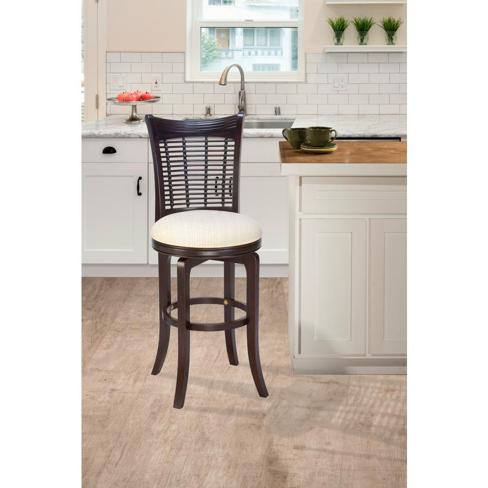 Kitchen Bar Stools On Sale Bayberry 30 In Dark Cherry Swivel Cushioned Bar Stool