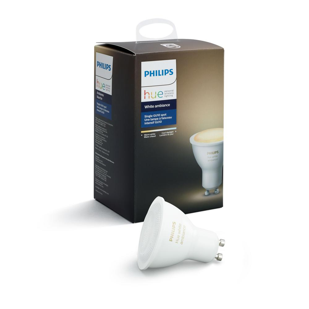 Hue G10 Philips Hue White Ambiance Gu10 Led 60w Equivalent Dimmable Smart Wireless Spot Light