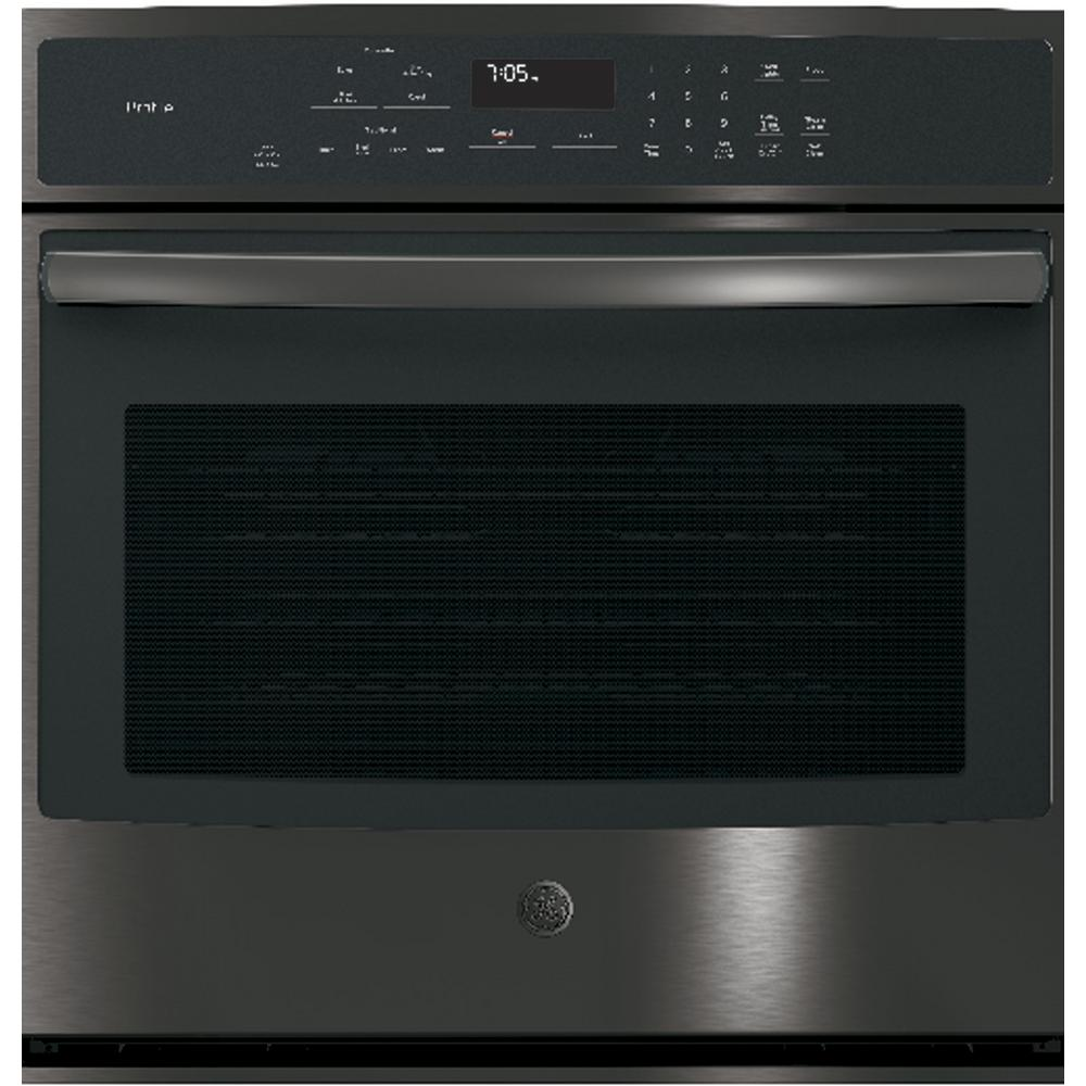 30 Wall Ovens Ge Profile 30 In Single Electric Wall Oven With Convection Self Cleaning In Black Stainless Steel Fingerprint Resistant