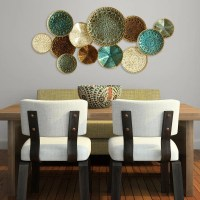 Stratton Home Decor Multi Metal Plate Wall Decor-S01657 ...