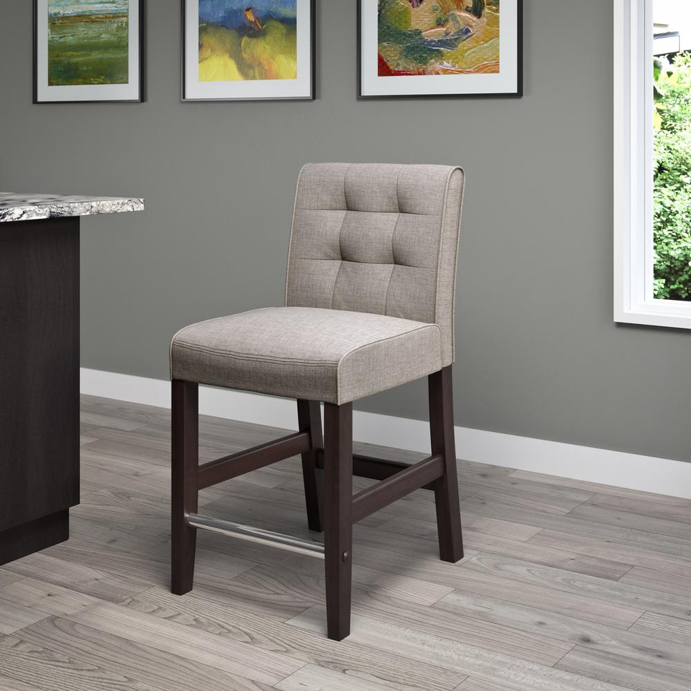 Fabric Counter Height Bar Stools Corliving Antonio 25 In Counter Height Grey Tweed Fabric Bar