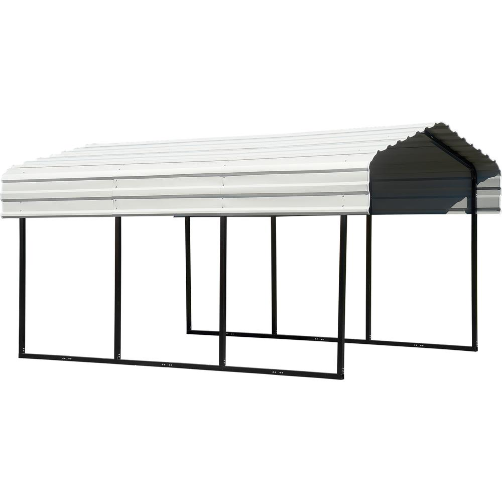 Zeichnung Carport Arrow 10 Ft X 15 Ft X 7 Ft Galvanized Black Eggshell Steel Carport