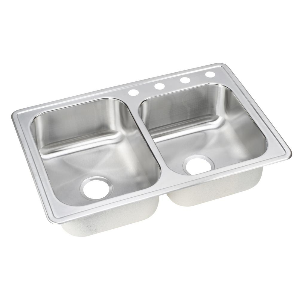 Kindred Qsfs31b 20 Gauge Apron Front Farmhouse Stainless: Stainless Steel Double Kitchen Sink