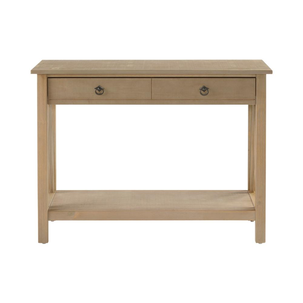 Console De Table Linon Home Decor Titian Driftwood Storage Console Table
