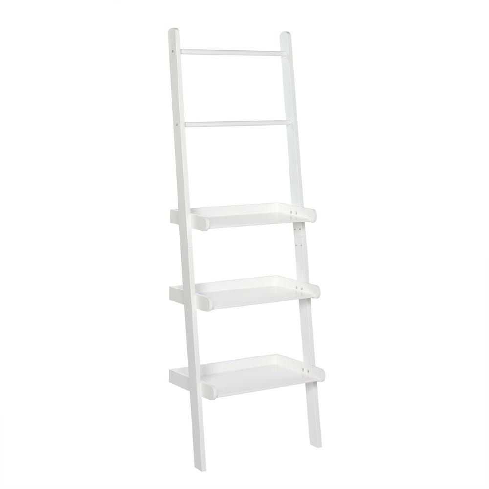 20' Ladder Home Depot Riverridge Home 12 In L X 59 1 4 In H X 20 In W Freestanding Mdf 3 Tier Ladder Shelf In White