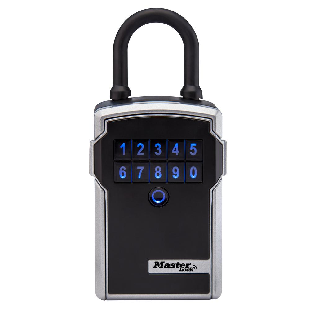Box Bluetooth Master Lock Bluetooth 3 1 4 In Wide Zinc Portable Lock Box With Personal Use Software