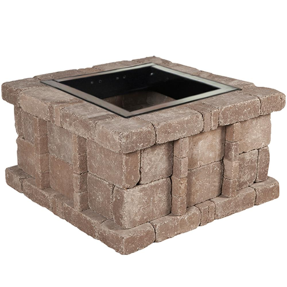 Home Depot Fire Pit Rumblestone 38 5 In X 21 In Square Concrete Fire Pit Kit No 5 In Cafe