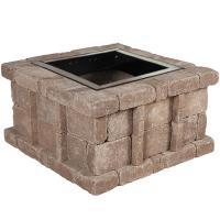 Pavestone RumbleStone 38.5 in. x 21 in. Square Concrete ...