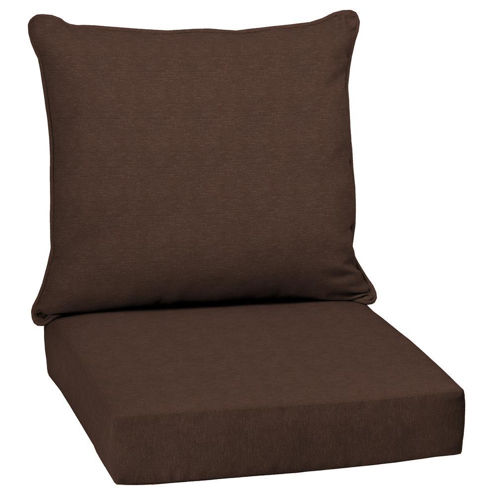 Chocolate Lamar Texture 2 Piece Deep Seating Outdoor