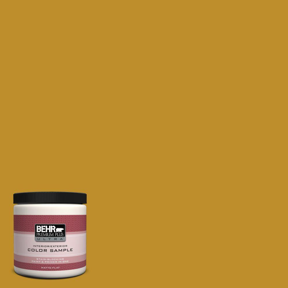 Mustard Color Paint For Kitchen Behr Premium Plus Ultra 8 Oz 360d 7 Brown Mustard Matte Interior Exterior Paint And Primer In One Sample