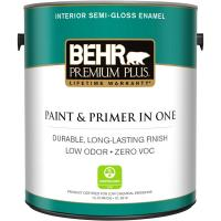 BEHR Premium Plus 1 gal. Ultra Pure White Semi-Gloss ...