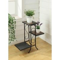 4D Concepts Black Indoor Plant Stand-601608 - The Home Depot