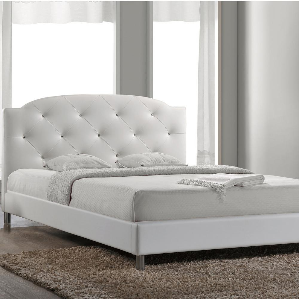 Bed Queen Canterbury White Queen Upholstered Bed
