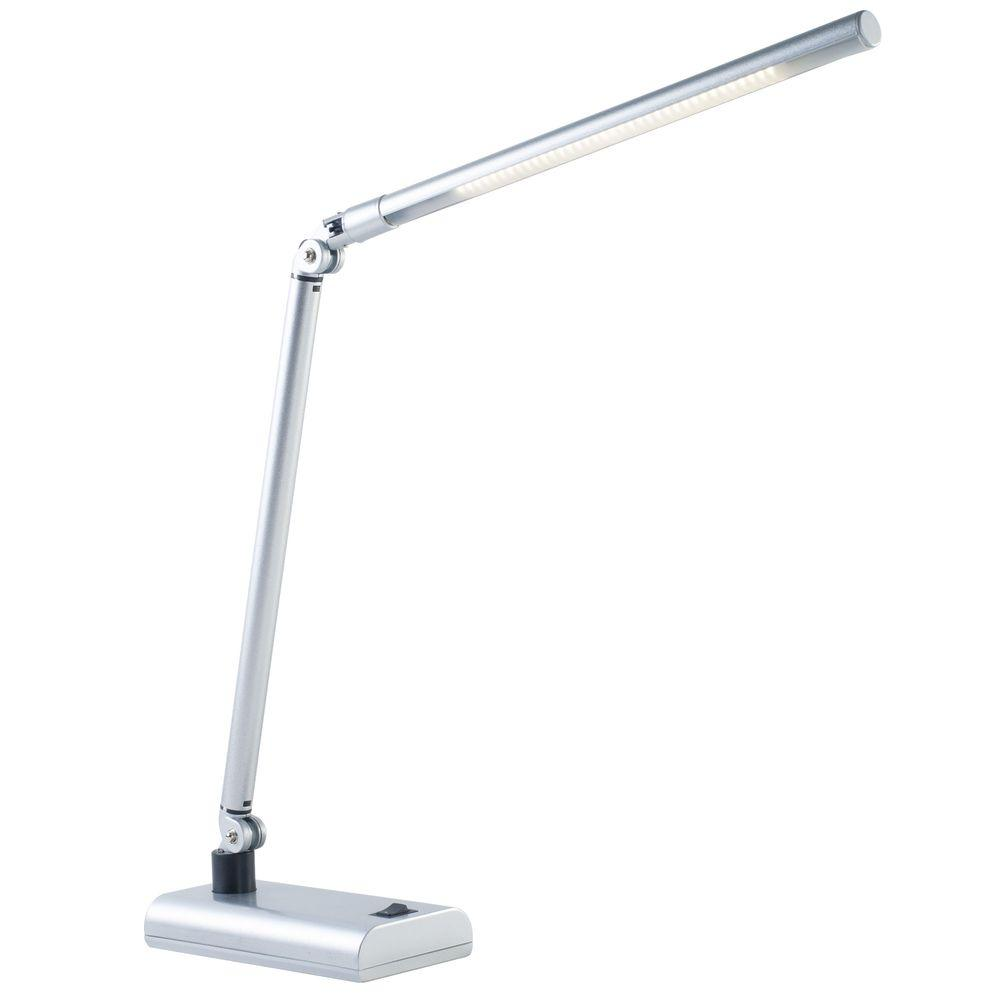 Modern Lamps Led Lavish Home 26 In Silver Led Contemporary Energy Saving Desk Lamp