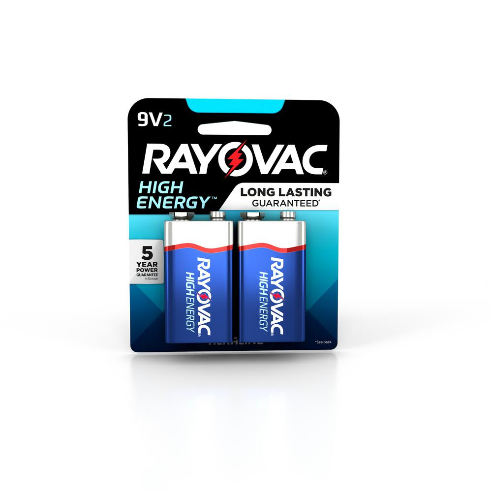 9 Volt Batterie Rayovac High Energy Alkaline 9 Volt Battery 2 Pack