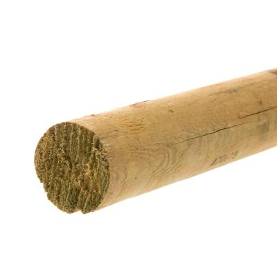 6 in. x 6 in. x 8 ft. Wood Full Round Fence Post-4277 - The Home Depot
