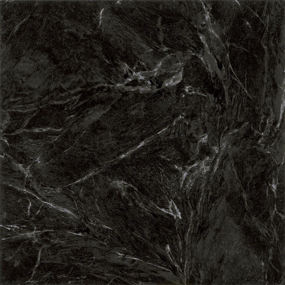 Black And White Marble Floors Trafficmaster Black Marble 12 In X 12 In Peel And Stick Vinyl Tile 30 Sq Ft Case