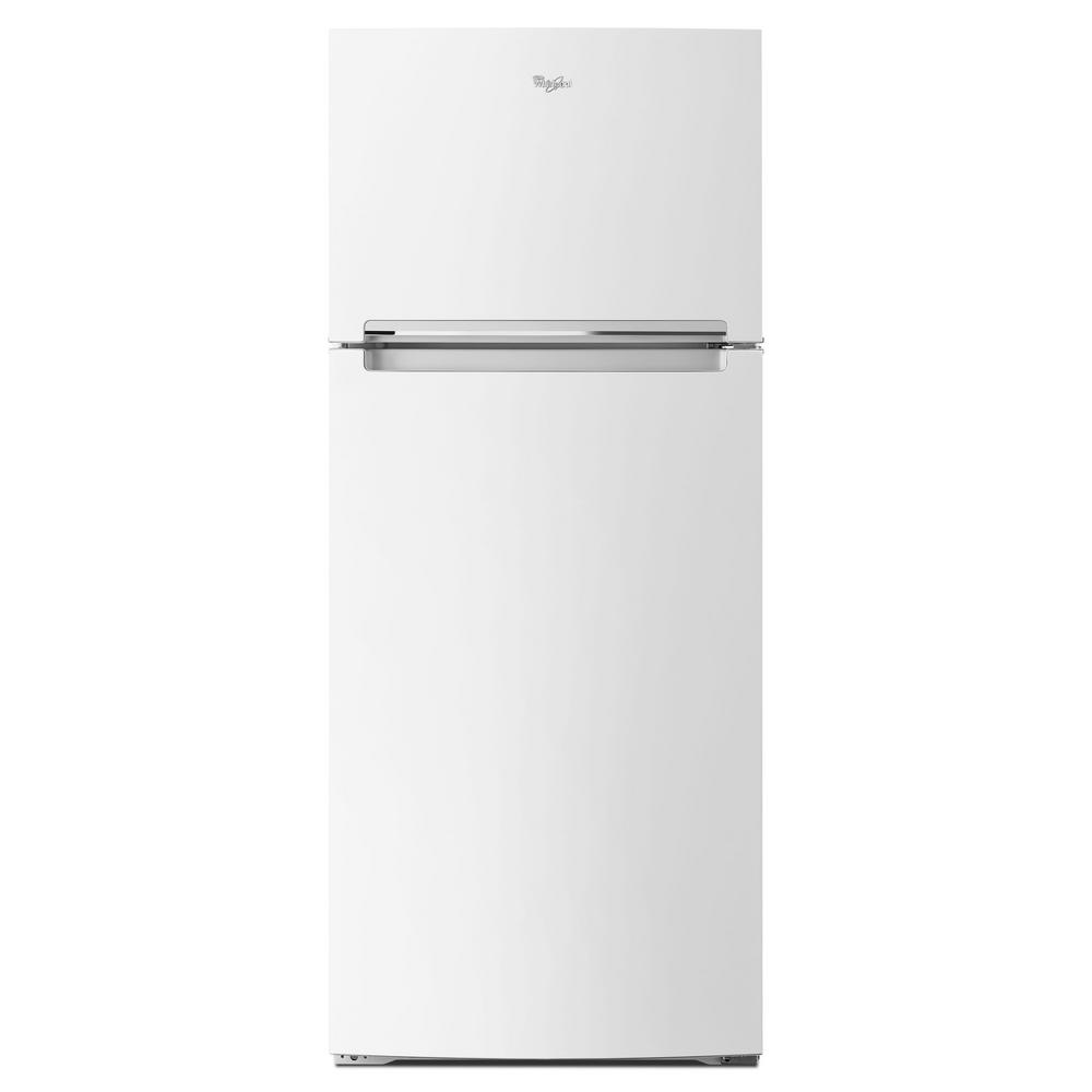 14 Cu Ft Refrigerator Whirlpool 17 6 Cu Ft Top Freezer Refrigerator In White