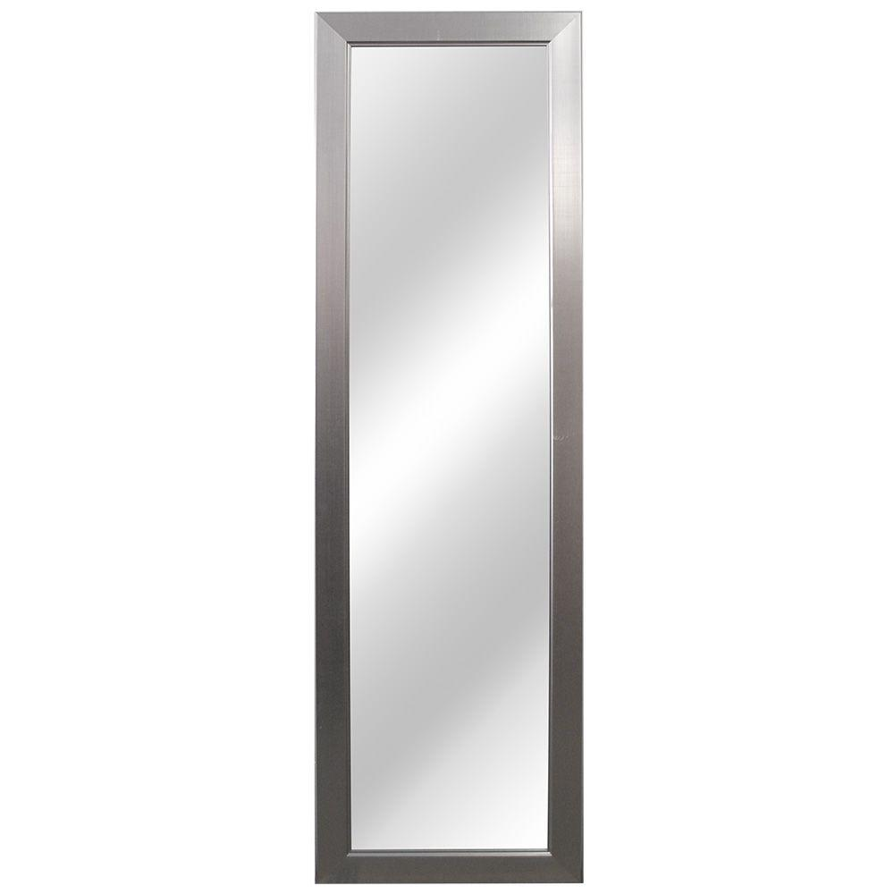 Bathroom Mirror Brushed Nickel Home Decorators Collection 15 In W X 51 In L Framed Fog Free Wall Mirror In Brushed Nickel