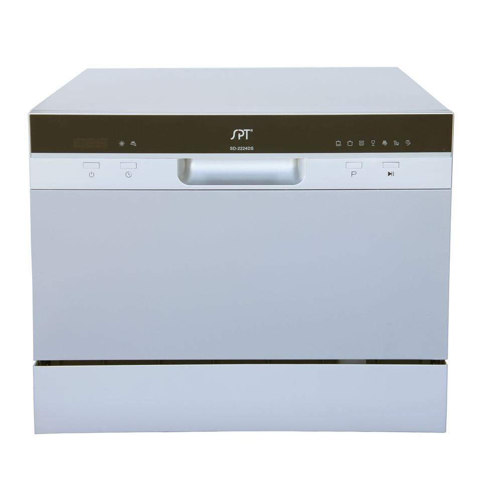 18 Portable Dishwasher Canada Spt Countertop Dishwasher In Silver With Delay Start And 6 Place