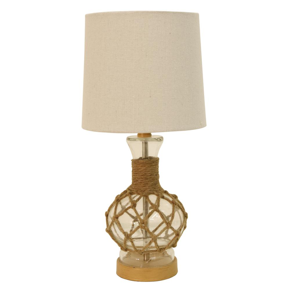 Coastal Lamps Decor Therapy Coastal Rope 19 25 In Clear Table Lamp With Shade