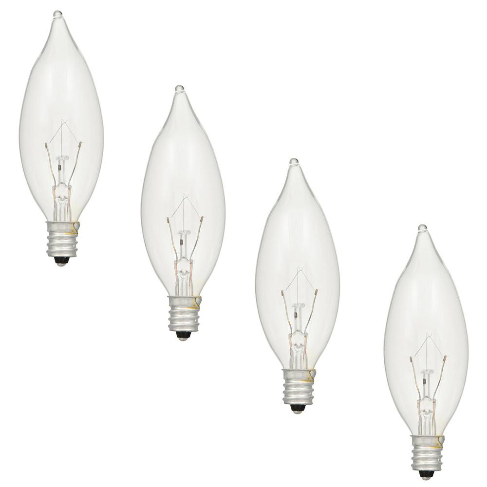 60 E14 Lumen Sylvania 60 Watt Double Life B10 Incandescent Light Bulb 4 Pack