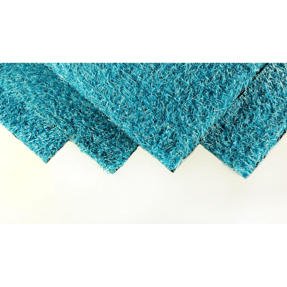 Garage Indoor Outdoor Carpet Greenline Caribbean Blue Artificial Grass Synthetic Lawn Turf Indoor Outdoor Carpet Sold By 6 Ft W X Customer Length