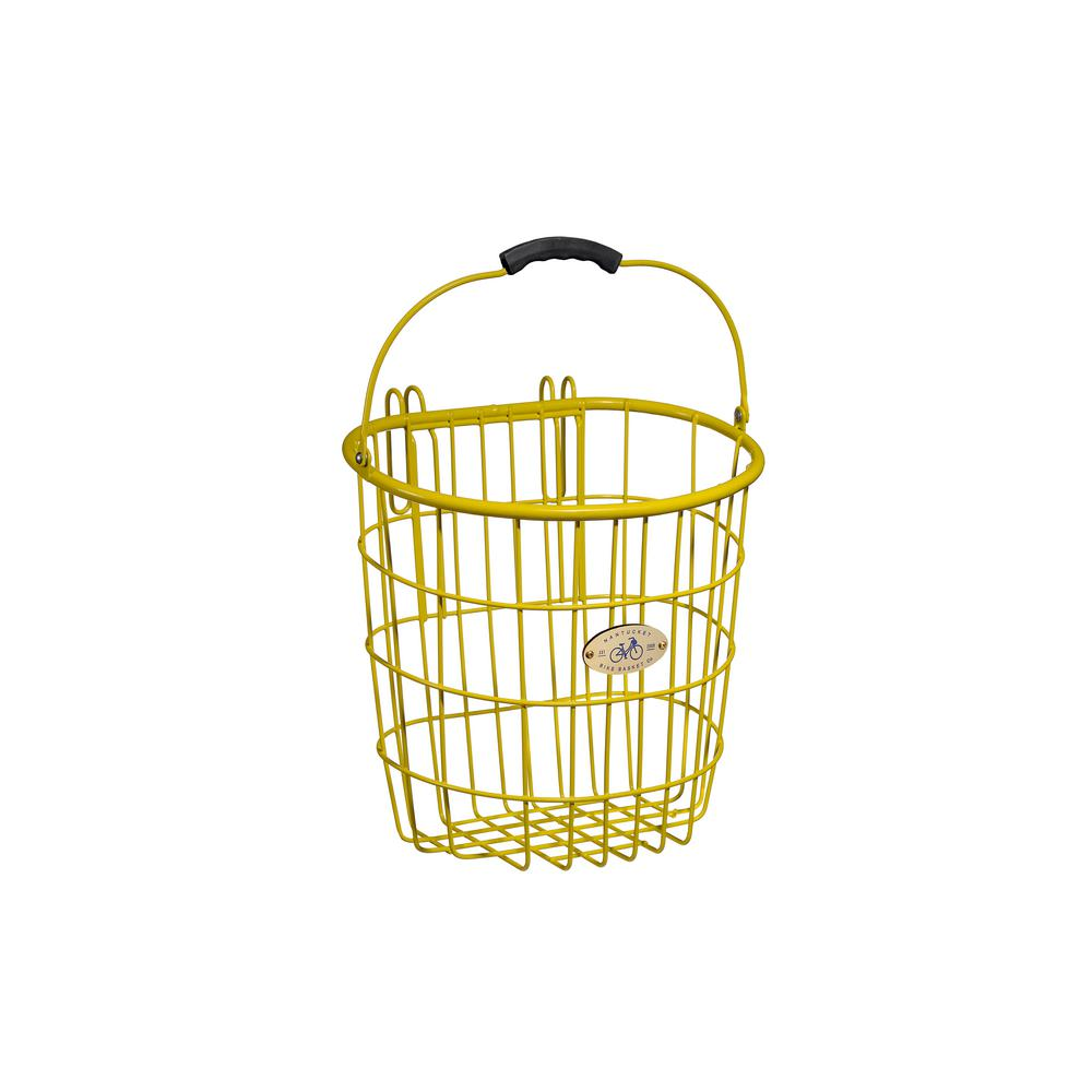 Bike Basket Big W Nantucket Bicycle Basket Surfside Rear Wire Pannier Basket In Yellow