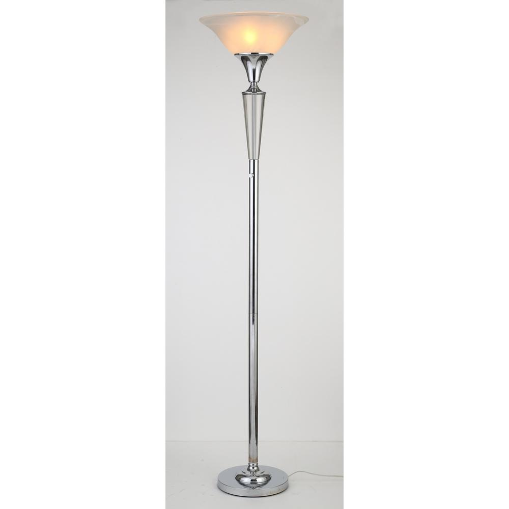 Modern Lamps Led Artiva Crystal Suite Collection 70 In 3 Light Modern Chrome Led Crystal Torchiere Floor Lamp With Dimmer