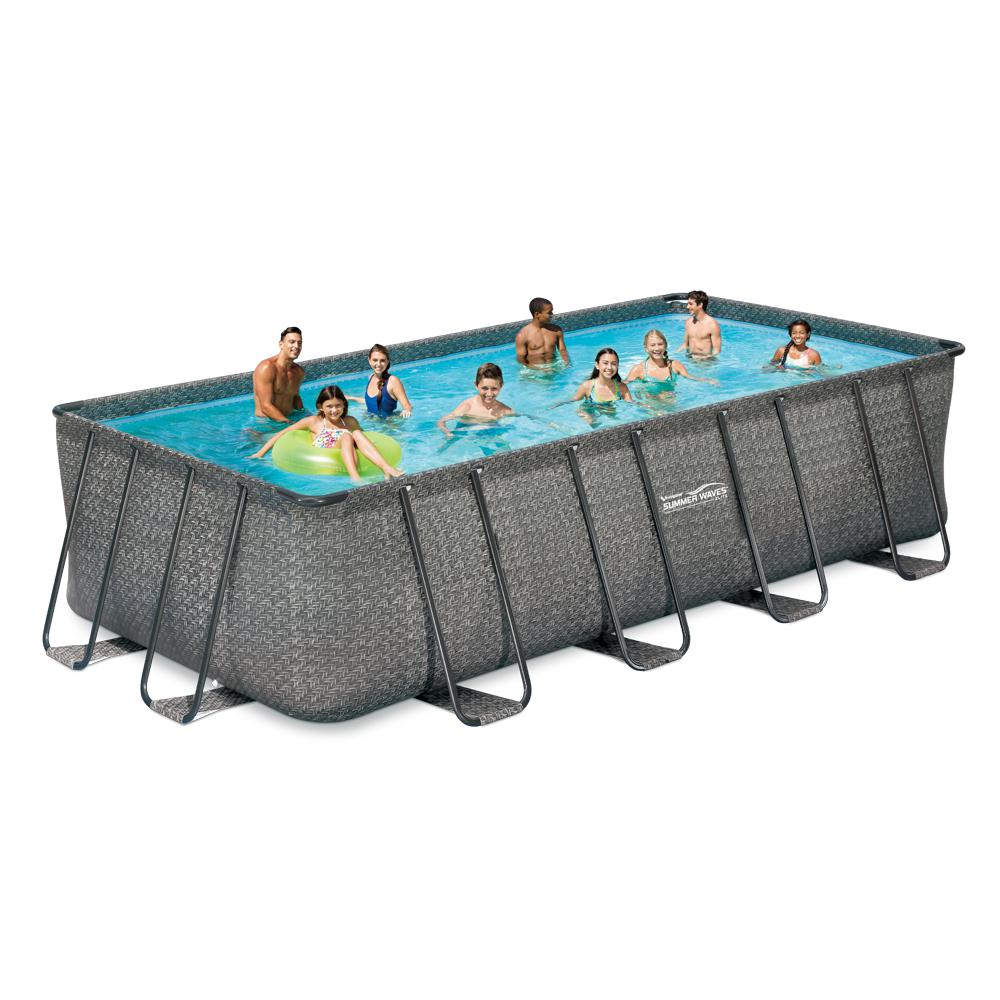 Sandfilter Pool Anleitung Bestway Summer Waves Elite 9 Ft X 18 Ft Rectangular 52 In Deep Elite Metal Frame Pool W Sand Filter Cover Ladder Maint Kit