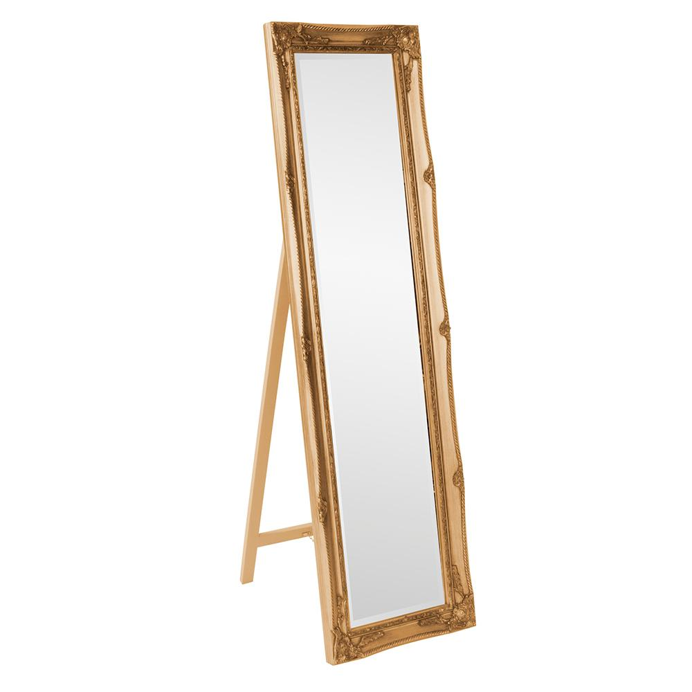 Standing Mirror 66 In X 18 In Antique Gold Standing Mirror