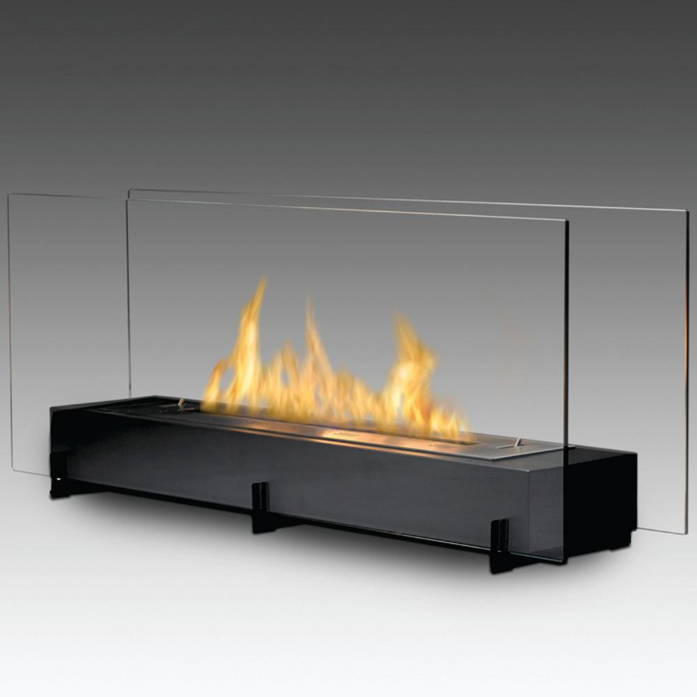 Ethanol Fireplaces Reviews Vision Ii 38 In Ethanol Free Standing Fireplace In Matte Black