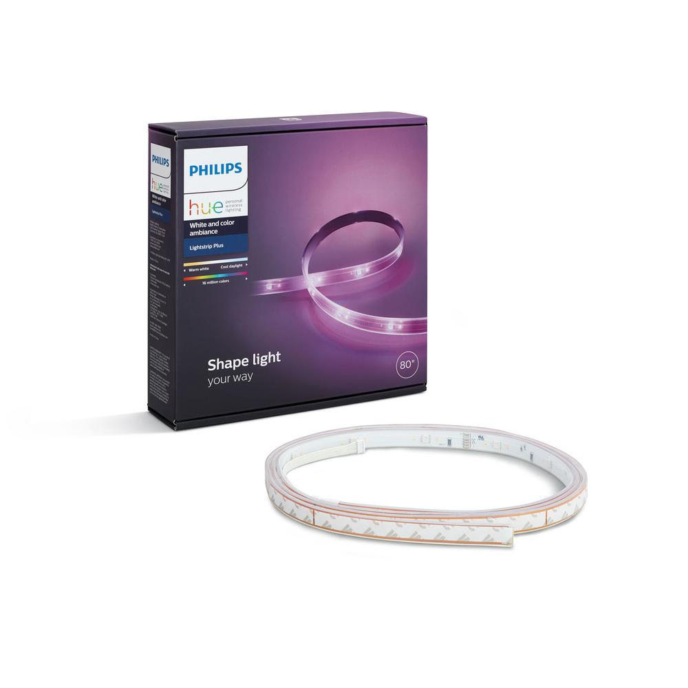 Philips Hue Led Lightstrip Plus Philips Hue White And Color Ambiance Led Lightstrip Plus Dimmable Smart Wireless Light 1 Strip 80