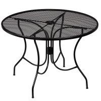 Hampton Bay Nantucket Round Metal Outdoor Dining Table ...