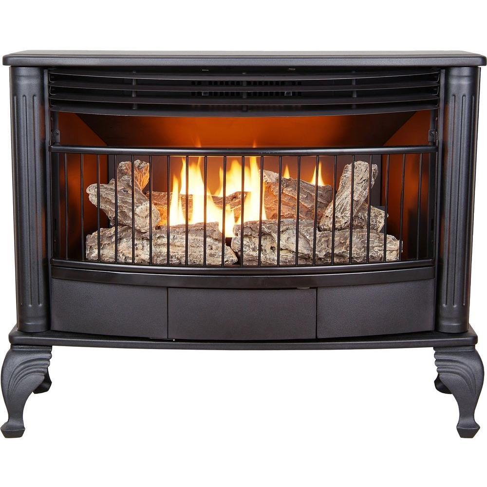 Btu Gas Fireplace Emberglow 25 000 Btu Vent Free Dual Fuel Gas Stove With Thermostat
