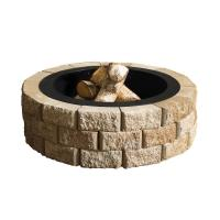 Oldcastle Hudson Stone 40 in. Round Fire Pit Kit-70300877 ...