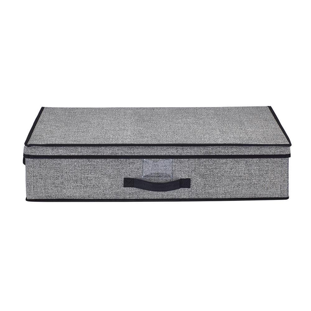 Office Depot Paris 16 Simplify 16 In W X 6 In H X 28 In D Black Under The Bed Storage Box