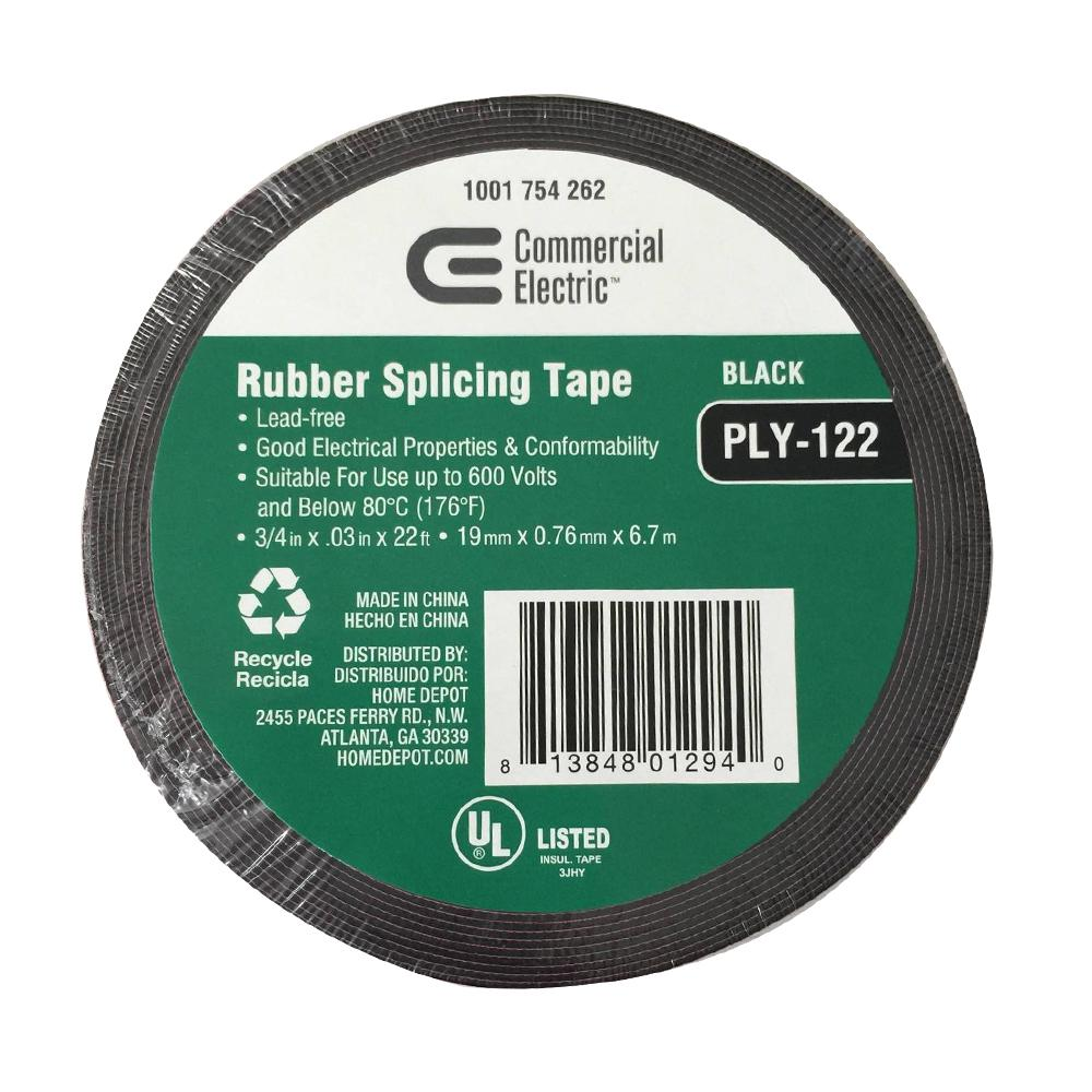 Splicing Tape Commercial Electric 3 4 In X 22 Ft Rubber Splicing Tape