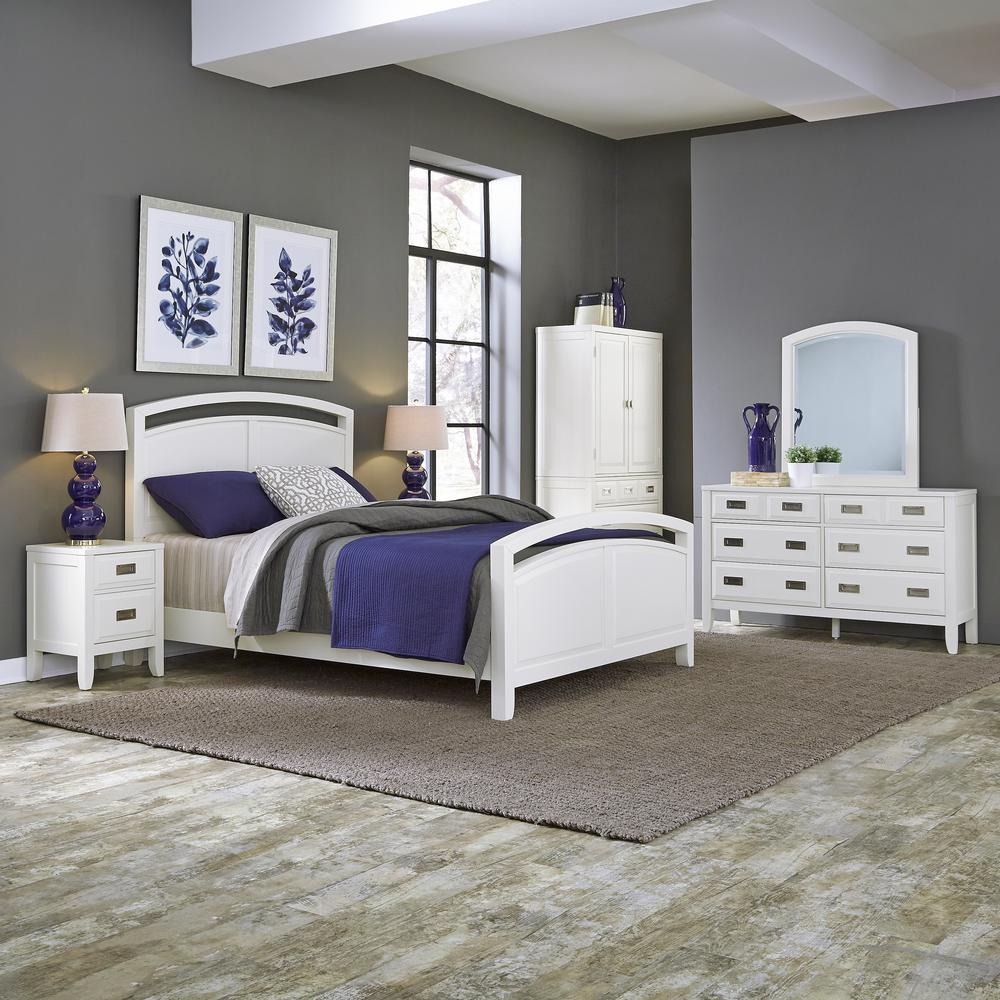 King Bed Frame Design Home Styles Newport White King Bed Frame