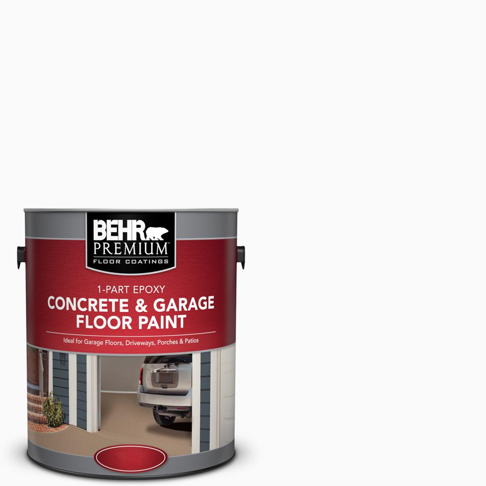 Floor Paint Home Depot Behr Premium 1 Gal White 1 Part Epoxy Satin Interior Exterior Concrete And Garage Floor Paint
