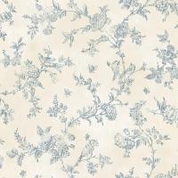 Chesapeake French Nightingale Blueberry Toile Wallpaper ...