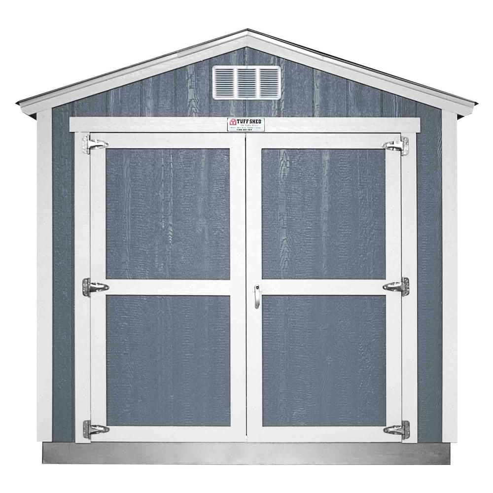 Home Depot Sheds For Sale Installed Tahoe Tall Ranch 8 Ft X 12 Ft X 8 Ft 6 In Painted Storage Building With Shingles And Endwall Double Door