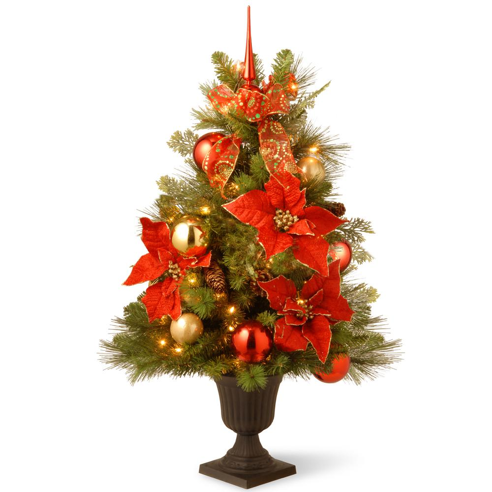 Home Decoration Collection National Tree Company 3 Ft Decorative Collection Home For The Holidays Entrance Artificial Christmas Tree With Clear Lights