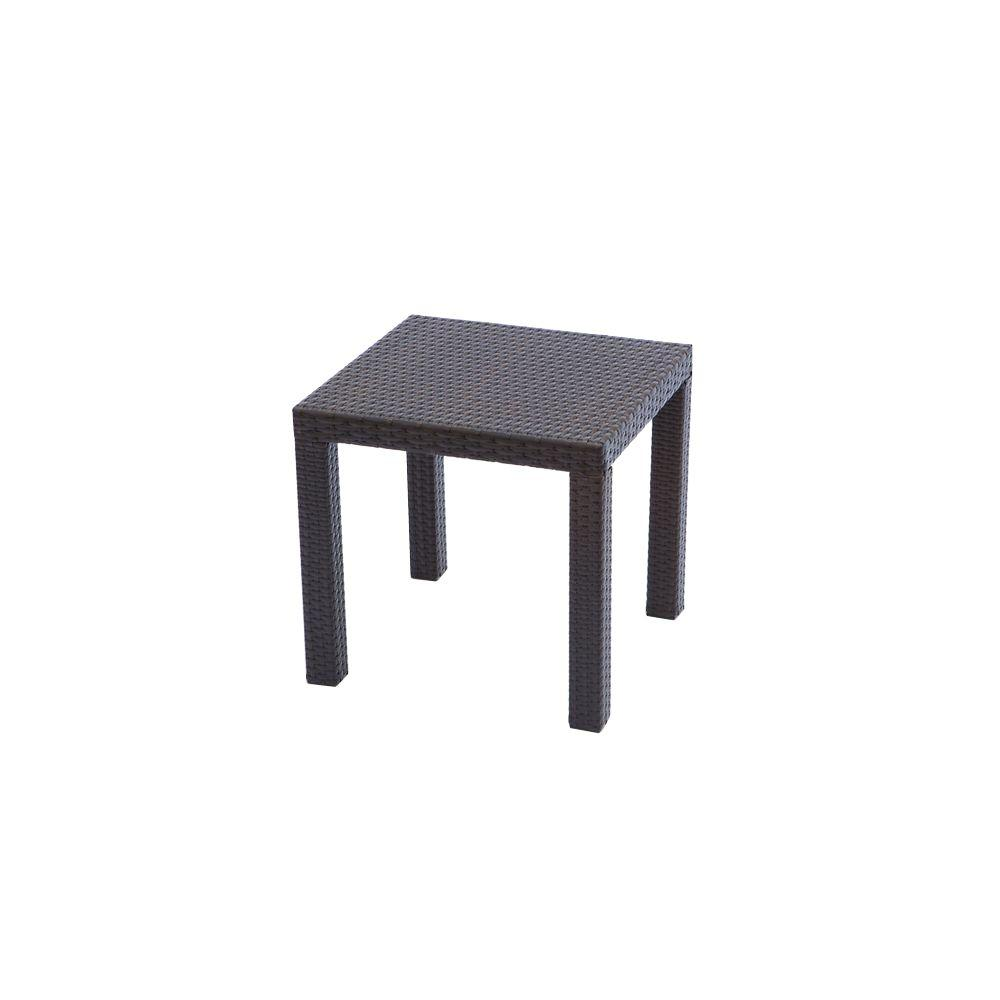 Rattan Table Rst Brands Espresso Rattan 20 In Square Patio Side Table