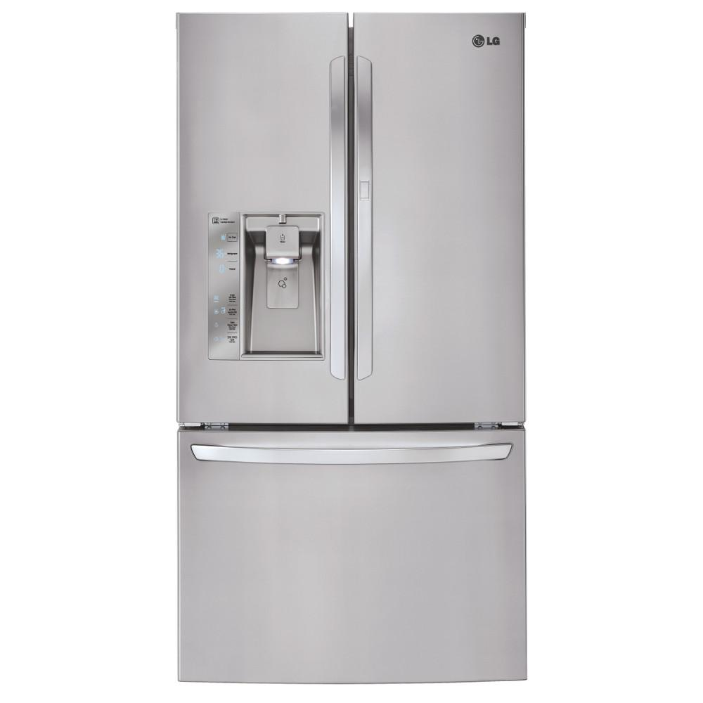 Home Depot Fridges Canada Lg Electronics 31 5 Cu Ft French Door Refrigerator With Door In Door In Stainless Steel