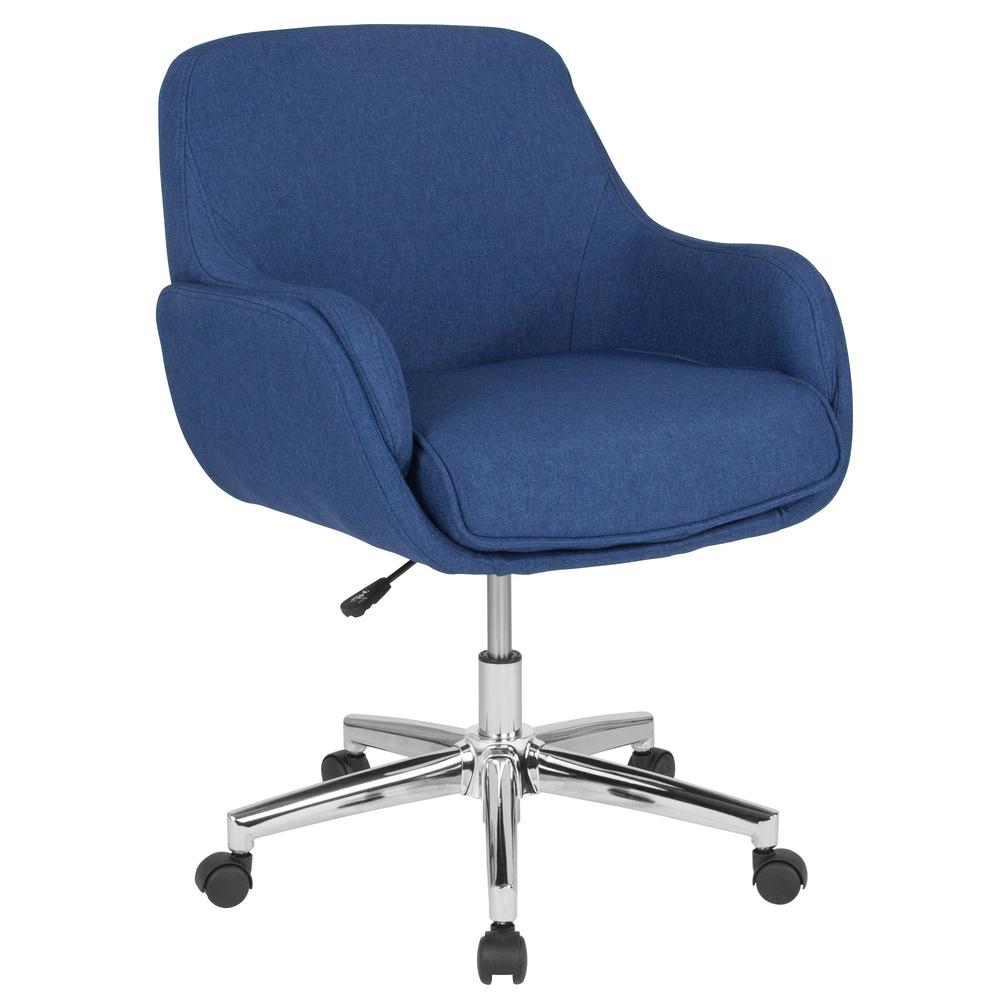 Desk Seat Flash Furniture Blue Fabric Office Desk Chair