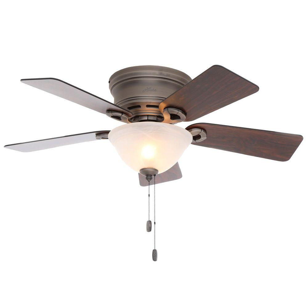 Ceiling Fans With Good Lighting Hunter Conroy 42 In Indoor Antique Pewter Low Profile Ceiling Fan With Light Kit