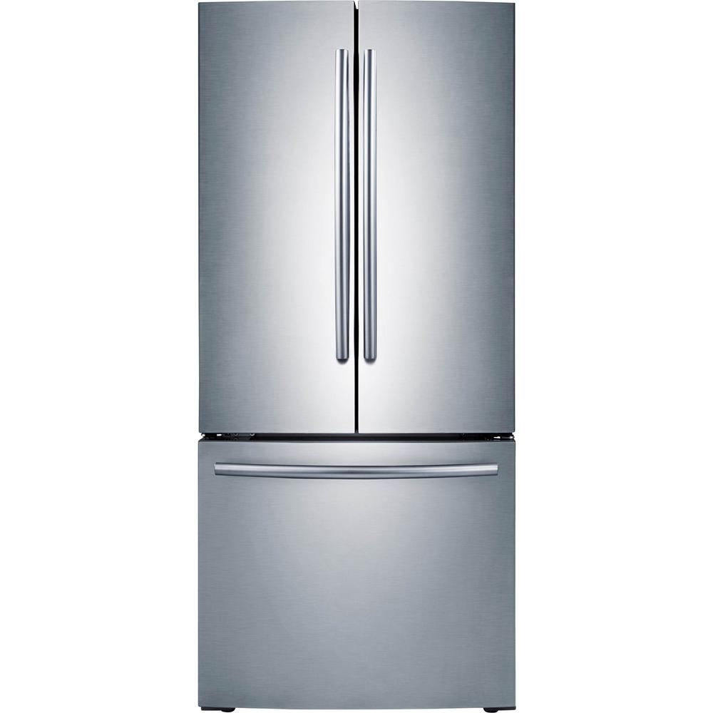 Home Depot Fridges Canada Samsung 30 In W 21 8 Cu Ft French Door Refrigerator In Stainless Steel